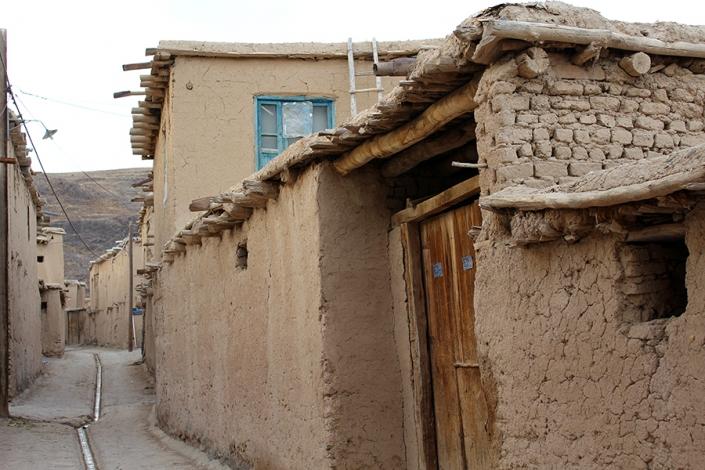 کوچه های روستای بلغور