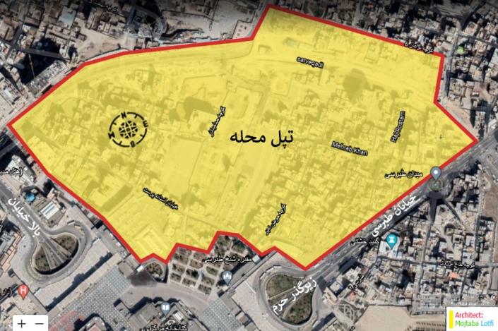 نقشه محدوده تپل محله