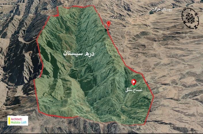 موقعیت تمساح سنگی روی نقشه