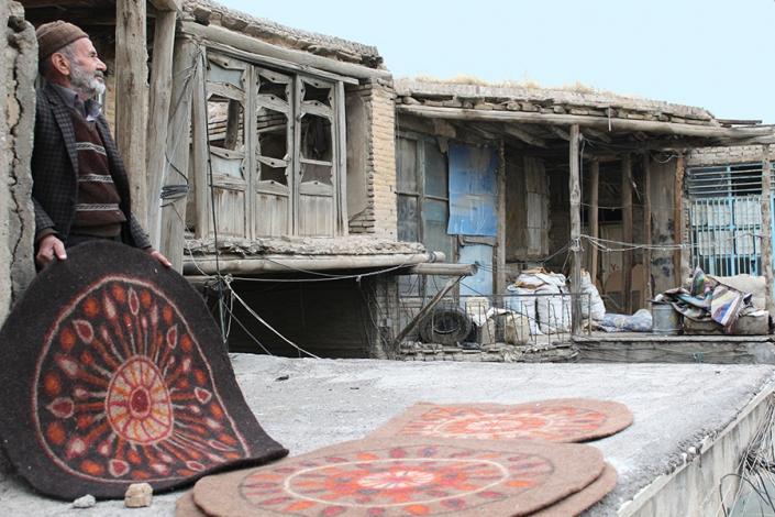 نمد بافی،صنایع دستی مشهد