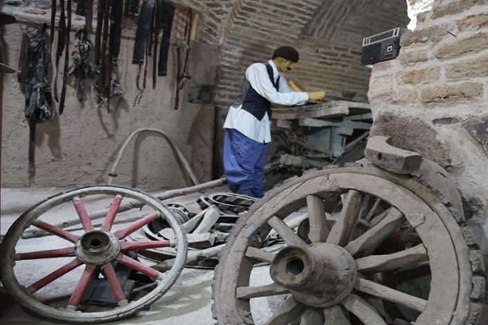 غرفه گاری سازی کاروانسرای ویرانی،جاذبه های تاریخی فرهنگی شهر مشهد،جاهای دیدنی مشهد